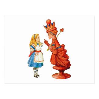 Alice und die rote Königin im Märchenland Postkarte