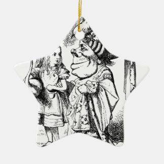 Alice und die rote Königin Keramik Ornament