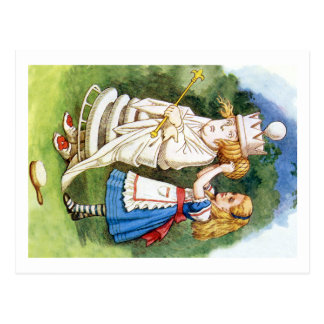 Alice und die weiße Königin Postkarte