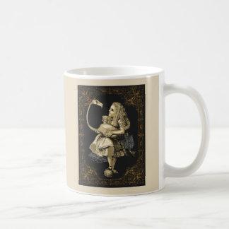 Alice- und Flamingo-Alice im Wunderland-Tasse Kaffeetasse