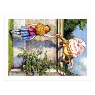 Alice und Humpty Dumpty im Märchenland Postkarte
