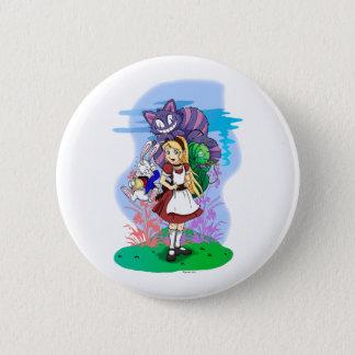Alice und ihr wunderbarer Freund-Knopf Runder Button 5,1 Cm