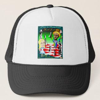 Alice- und Obama-Schach Truckerkappe