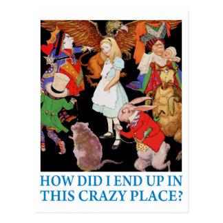 """Alice, """"wie frage ich beendete oben in diesem postkarte"""