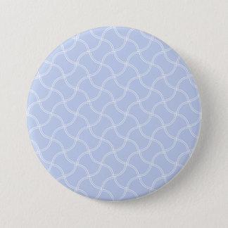 Aliceblauer Minifußweg im englischen Land-Garten Runder Button 7,6 Cm