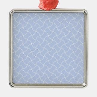 Aliceblauer Minifußweg im englischen Land-Garten Silbernes Ornament