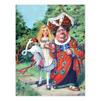 Alices Abenteuer im Märchenland Postkarte