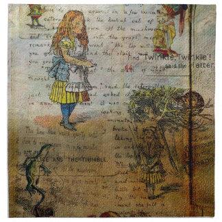 Alices Abenteuer Stoffserviette