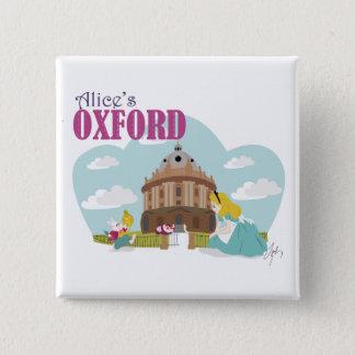Alices Oxford-Abzeichen 2 Quadratischer Button 5,1 Cm