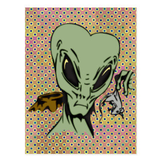 Alien-Abduktionen der Mäuse Postkarte