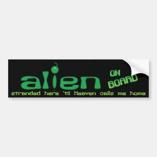 Alien an Bord des christlichen Autoaufklebers Autoaufkleber