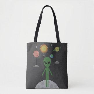 Alien auf dem Mond Tasche