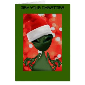 ALIEN AUS DIESER WELTweihnachtskarte heraus Karte