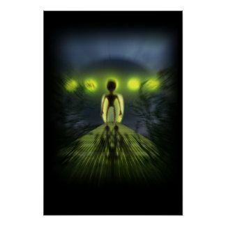 Alien-Besucher Poster
