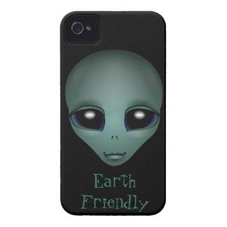 Alien-BlackBerry-Kasten niedliches iPhone 4 Case-Mate Hüllen