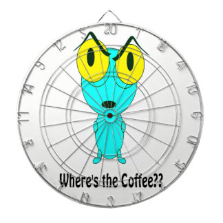 Alien-Cartoon Dartscheibe