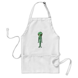 Alien, das Schürze ist