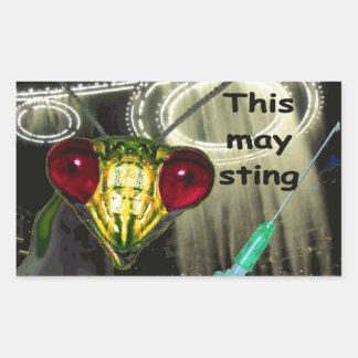 "Alien-Einspritzungs-Aufkleber: ""Dieses kann Rechteckiger Aufkleber"