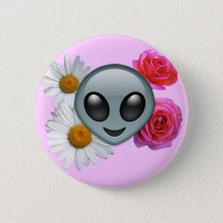 alien emoji Knopf Runder Button 5,1 Cm