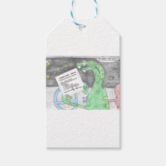 Alien erhält eine Karte Geschenkanhänger