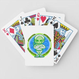 Alien-Feier Bicycle Spielkarten