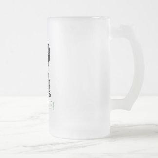 Alien-Frieden Mattglas Bierglas
