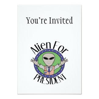 Alien für Präsidenten Karte