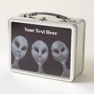 Alien-Grau Metall Brotdose