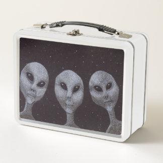 Alien-Grau Metall Lunch Box