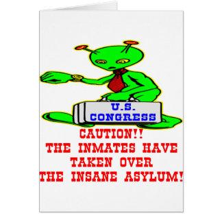 Alien-Insassen übernommener geisteskranker Kongreß Karte