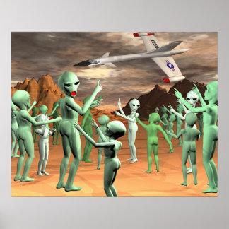 Alien-Invasion Posterdrucke