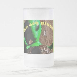 Alien-Kaffee-Tasse Mattglas Bierglas