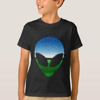 Alien-Kopf - Glitter-GesichtReptilian oder T-Shirt