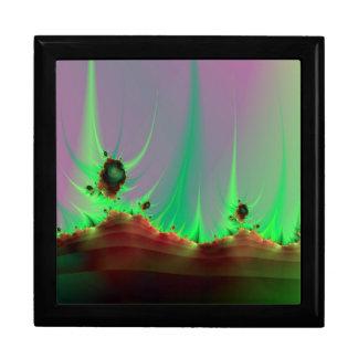 Alien-Landschaft im Grün Schmuckschachtel