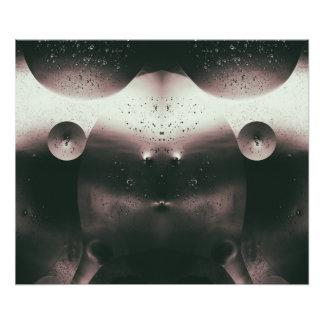 Alien-Öl-Tröpfchen einfarbig Fotodruck