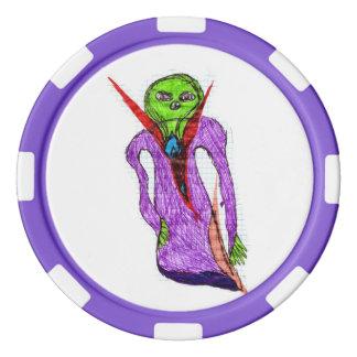 Alien-Pokerchips! Pokerchips