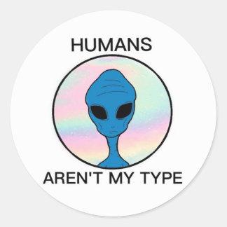 Alien Runder Aufkleber