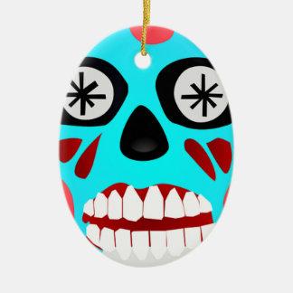 Alien-Schädel Keramik Ornament