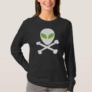 Alien-Schädel und gekreuzte Knochen T-Shirt