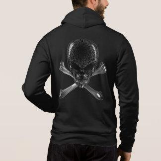 Alien-Schädelund Knochen-Fan-ZipHoodie Hoodie