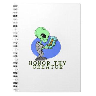 Alien-Schöpfer Notizblock