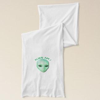 Alien sind ich grünen lustiges alien-Gesicht mit Schal