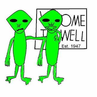 Alien-Straßen-Reise Photo Statue