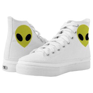 Alien-Tritte Hoch-geschnittene Sneaker