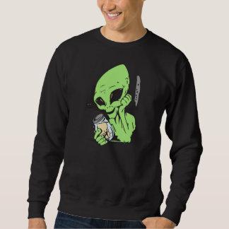 Alien und menschliches Baby-Exemplar Sweatshirt