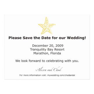 Alison Save the Date Postkarte