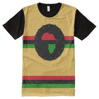 ALKEBULAN-MEDALLION und STREIFEN T-Shirt Mit Komplett Bedruckbarer Vorderseite