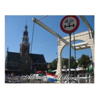 Alkmaar, das Hausdrawbridge-Holland-Postkarte Postkarte