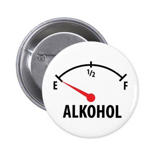 Alkohol Anzeige Seitenblickikone Anstecknadelbuttons