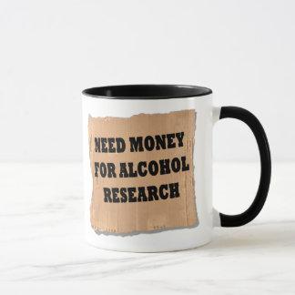 Alkohol-Forschung Tasse